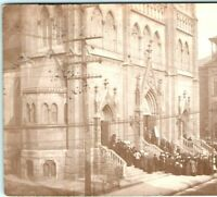 1910 Huge Unknown Cathedral Real Photo Postcard RPPC Church Post Waterloo IA Vtg