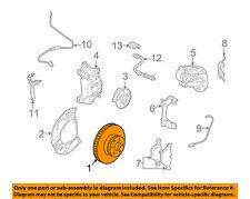 BMW OEM 06-10 550i Front Brake-Disc Rotor 34116763824