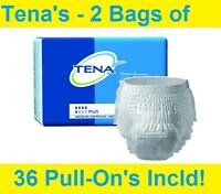 1/2 CASE Tena Protective Underwear Plus Absorbency Medium 2 Packs of 18 # 72238