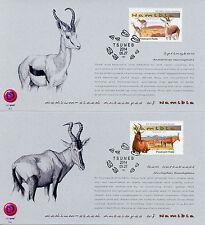 Namibia 2014 FDC Medium Sized Antelopes 4v Set Cards Wild Animals Springbok