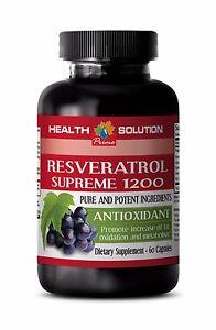 Resveratrol 500 RESVERATROL SUPREME 1200 ANTIOXIDANT Increases Fat Oxidation 1B