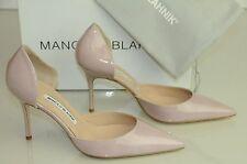 New Manolo Blahnik CHISIOMOD as Tayler Pink Nude Beige Flesh Heels Dorsay Shoes