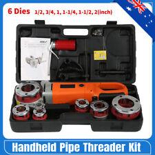 2300w Portable Handheld Electric Pipe Threader Threading Machine & 6 Dies 220v