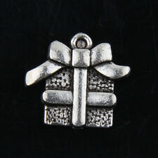 free ship 44 pcs tibet silver gift box charms 21x17mm #2699