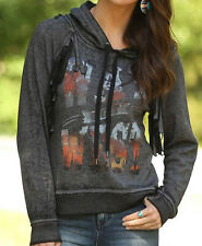 NEW Wrangler Women's Western Way Out West Graphic Fringe Hoodie X-Large XL NWT