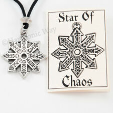 STAR OF CHAOS Necklace Pendant Divine FIRE WHEEL Magical Warrior Runic Rune