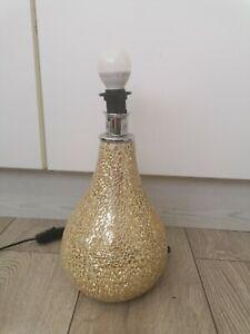 Table Lamp Base Gold Mosaic