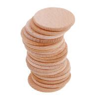 20 Stück Blank Plain Runde Form Naturholz Scheiben Discs für Art Craft Hobby
