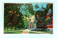 Crawfordsville Indiana Wabash College Peck Hall Vintage Postcard