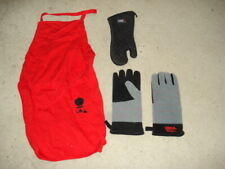 Weber Apron, Set Of Weber Gloves, and Weber Mitten