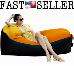 Inflatable Lazy Sofa Lounger Air Sofa Bean Bag Chair Beach Lounger - NEW! FAST!