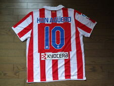 Atletico Madrid #10 Kun Aguero 100% Original Jersey/Shirt XL 2010/11 Home MINT