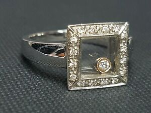 STUNNING 2NDHAND 18ct WHITE GOLD DIAAMOND COCKTAIL RING SIZE M 1/2