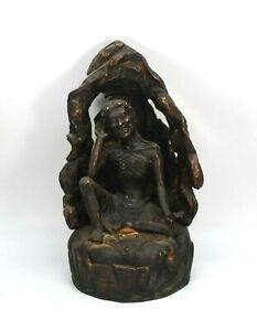 Milarepa Buddha brass statue Hand carved Buddhism home Decorative Tibetan Nepal