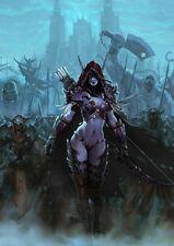 POSTER WORLD OF WARCRAFT WOW DAMA SYLVANAS VENTOLESTO LADY WINDRUNNER ILLIDAN 11
