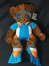 Build a Bear Wetsuit Swimming Outfit with Goggles,Flippers & Russ Bear HoneyFitz