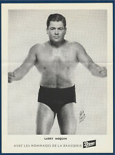 "LARRY MOQUIN 1950's  WRESTLING DOW PICTURE 8-1/4"" X 11""  32268"