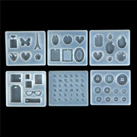 Crystal Silicone Diamond Mold Making Jewelry Pendant Earring Resin Casting Mould