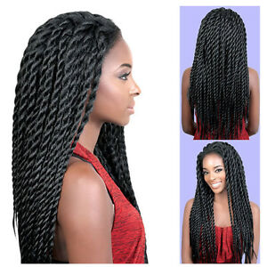 """22"""" Long Lace Front Crochet Braided Wigs for Black Women Full Head Synthetic Wig"""