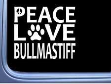 "Bullmastiff Peace Love L626 Dog Sticker 6"" decal"