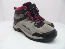 Wolverine Women's Impact Wind Wp Suede Mid Hiking Boot Grey/Fuschia Size 10M
