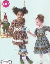 NEW McCalls 6594 Girls RUFFLES, LACE Boutique BOHO Dress Pants Pattern Sizes 6-8