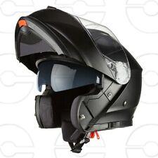 Casco Moto Scooter Modulare Integrale Omologato  Nero Opaco Visiera Sole