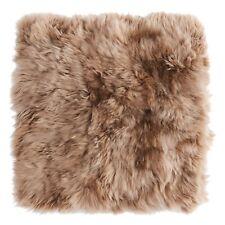 Housse de coussin peau de mouton beige doux taille d oreiller idée déco Skold