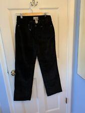 LL Bean Favorite Fit Black Velvet Stretch Pants Women's Size 8 Reg