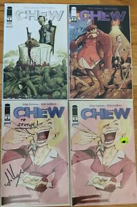 Chew #1 4th Printing Last Bite Edition + 2,  3 signed by john Layman Image