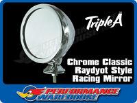 CHROME CLASSIC RAYDYOT STYLE RACING MIRROR AC COBRA GT40