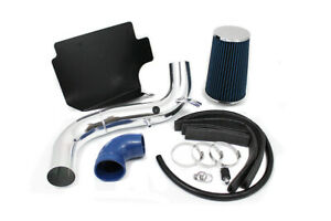 """GSP 3"""" Blue Heat Shield Cold Air Intake + Filter 98-03 Chevrolet S10 GMC Sonoma"""
