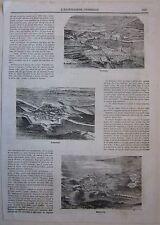 1866 VERONA LEGNAGO MANTOVA 3 xilografie Illustrazione Universale Sonzogno
