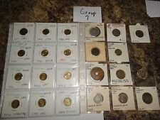 WORLD FOREIGN COIN COLLECTION LOT SET OF 24 DIFFERENT GROUP 7