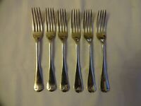 Vintage Silver Plated Dessert Forks Old English Pattern x 6 J Rogers, Sheffield