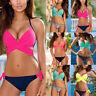Damen Bademode Push Up Badeanzug Triangel Beachwear Bandage Cross Bikini Set H/H