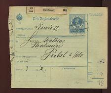 Post-Begleitadresse 1913 aus Marchtrenk   10/8/14