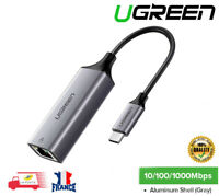 USB-C Type C à RJ45 Ethernet Lan Adaptateur Réseau Gigabit 10/100/1000 Mbit/s
