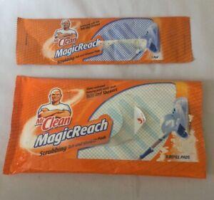 Mr Clean MagicReach Scrubbing Tub & Shower 5 Refill Pads + Pack Of 1 Total 6 Pad