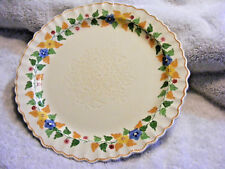 """Old ADAMS Royal Ivory England TITAN WARE Floral Replacement 9"""" Dinner Plate"""