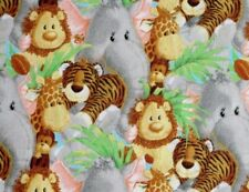 PATTY REED JUNGLE BABIES QUILTING 100% COTTON FABRIC TRADITIONS FREE US SHIPPING