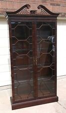 Henredon double door  mahogany  curio/china cabinet
