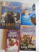 Lot of 4 BRIAN JACQUES Books 3 Redwall 1 Flying Dutchman Series Triss Marlfox