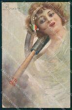 Militari WWI Propaganda Artiglieria Musica Italiana Pizzolato cartolina XF0463