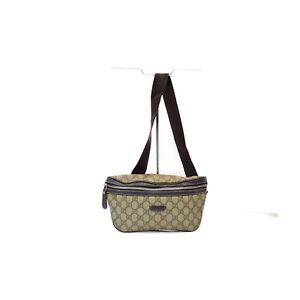 Gucci Waist Pouch Bag  Light Brown PVC 2402150