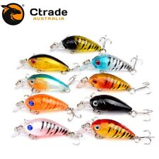 9 x 45mm CrankBait Fishing lures Hard body Bream Bass Trout Flathead Lure Perch
