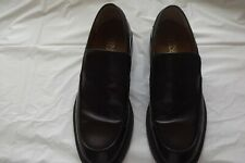 Mens brown leather slip-on shoes. Size 44/10