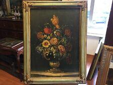 Antico dipinto olio su tela '700 Natura Morta-antiquandogenova-