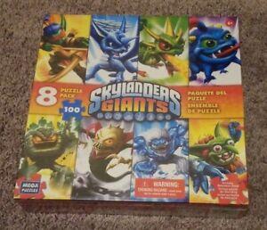 Skylanders Giants - 100 Pieces - 8 Puzzle Pack (MEGA Brands, 2012)