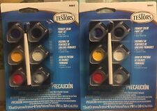 LOT OF 2 TESTOR #9001 0.10OZ PRIMARY COLOR PAINT SET NON-TOXIC FREE SHIPPING!